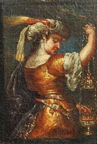 femme à l'encensoir ou sybille de l'oracle by flaminio torre