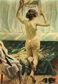 am fenster (weiblicher rückenakt) by martin lehmann-steglitz