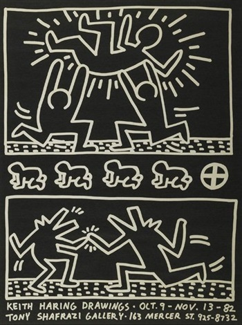keith haring drawingsshafrazi gallery by keith haring