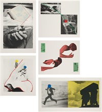 a suite of five lithographs from tristram shandy (set of 5) by john baldessari