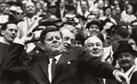 president john f. kennedy inaugurates the new d.c. stadium, washington, d.c. by robert riger