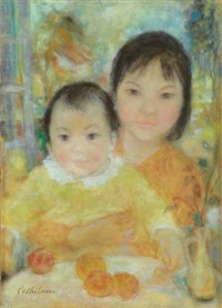frère et sœur (brother and sister) by le thi luu