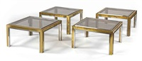 low tables (set of 4) by jean charles and willy rizzo