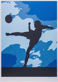 the football player by vik muniz