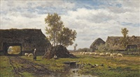 farmhouses in drenthe by willem roelofs