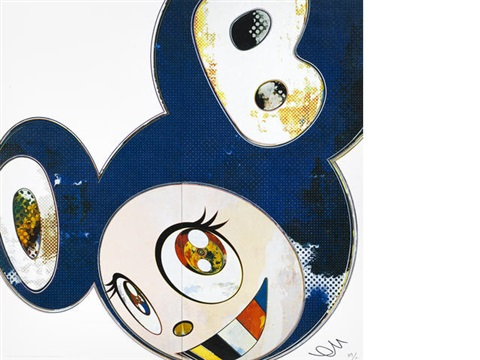 and then x6 blue i met a panda family 2 works by takashi murakami