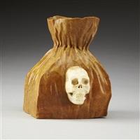 paper bag with skull by bill nasogaluak