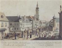 ansicht von wien - taborstraße, pl.35 by johann ziegler