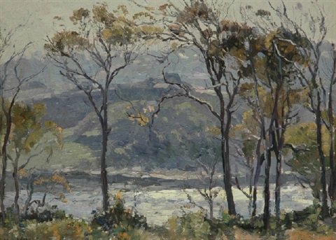 river view by john william sir ashton