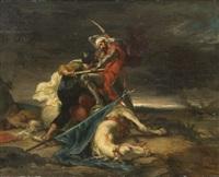 scène de combat by henri léopold lévy