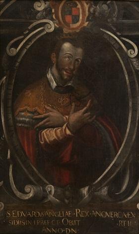 retrato de san eduardo rey de inglaterra collab wstudio by francisco pacheco