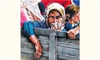 sans titre, les réfugiés by camilla adami