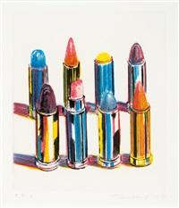 eight lipsticks by wayne thiebaud