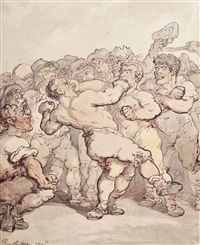 the prize fighters by thomas rowlandson