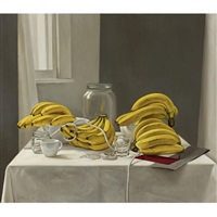 still life with bananas by martín la rosa