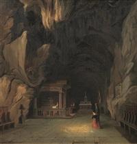 santuario di santa rosalia dentro il monte pellegrino a palermo by vincenzo abbati
