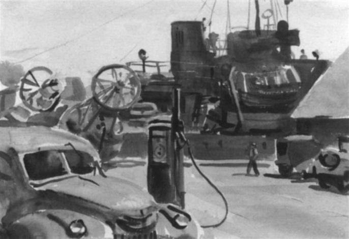 dockside, menemsha by agnes anne abbot