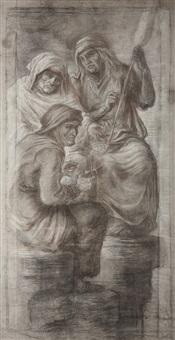 freskenentwurf für das mausoleum der familie schnitzler (design for fresco) by adolf von hildebrand