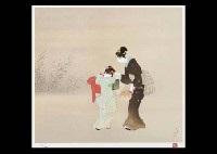 mother and child (portfolio of 3, various sizes) by shoen, shoko, and atsushi uemura