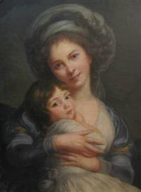 after mme. vigee-lebrun portrait de l'artiste et de sa fille dite au turban by luis de anglada