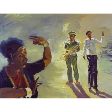 the cattle auction (study) by eric fischl
