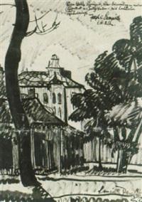 gårdsbild by józsef nemes-lampérth