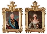 konung adolf fredrik (+ drottning lovisa ulrika; pair) by ulrika (ulla frederika) pasch