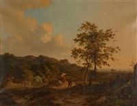paysage de campagne animé de personnages by jan willem van borselen