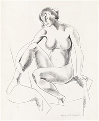 seated nude by marguerite thompson zorach