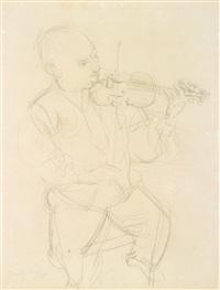 portrait d'un violoniste by raoul dufy
