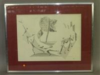 hommes portant filets et poissons by léopold survage