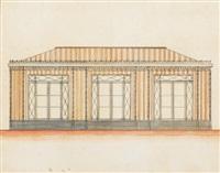 projet pour l'entrée du château de malmaison by percier et fontaine