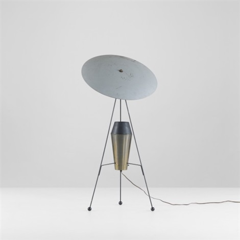 floor lamp (model f-2-g) by a.w. and marion geller