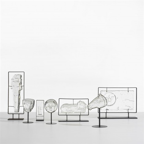 collection of sculptures set of 7 by erik höglund