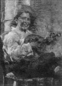 boy playing lute by giuseppe maldarelli