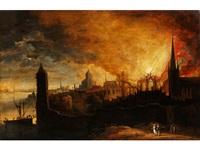brennende stadt by daniel van heil