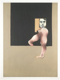 right panel of triptych (s. 9) by francis bacon