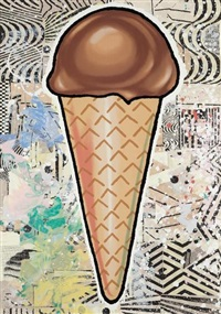 chocolate cone by donald baechler