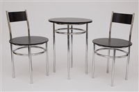 a table (+ 2 chairs; set of 3) by carl fieger