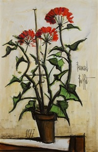 pot de géranium by bernard buffet