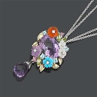 a pendant/necklace and earring suite (set of 2) by la posy