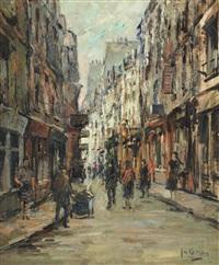 vue de rue animée by jan korthals