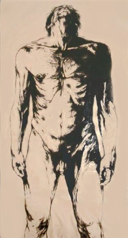untitled male nude by luis caballero