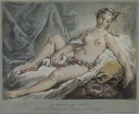 le réveil de venus after boucher by louis marin bonnet