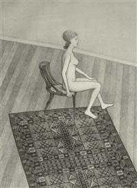 nude in profile by john brack