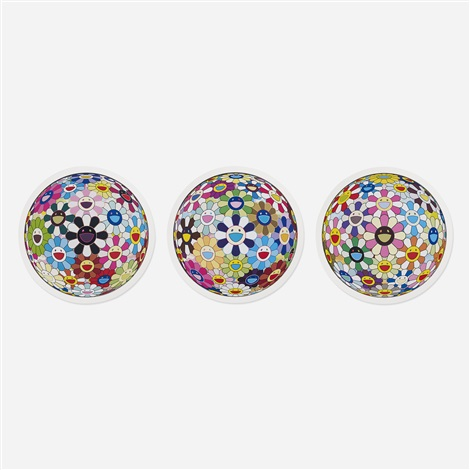 flower ball collection of three works by takashi murakami