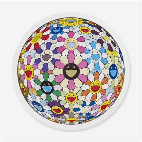 flower ball (collection of three works) by takashi murakami