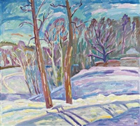 sunny winter day by victor glukov