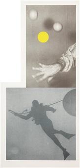 juggler's hand (with diver) by john baldessari