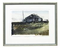 landskap med hus by lars lerin